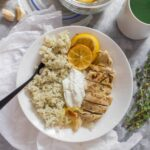 This Greek Chicken Meal Prep is so easy to make and is packed full of flavour thanks to the marinade. Plus, thanks to the yogurt in the marinade, the meat is extremely tender.