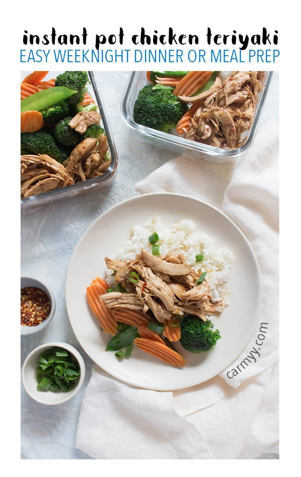 This Instant Pot Chicken Teriyaki is full of bold flavours that will quickly become a weeknight family favourite! Plus it makes for the perfect speedy protein for your weekend meal prep.
