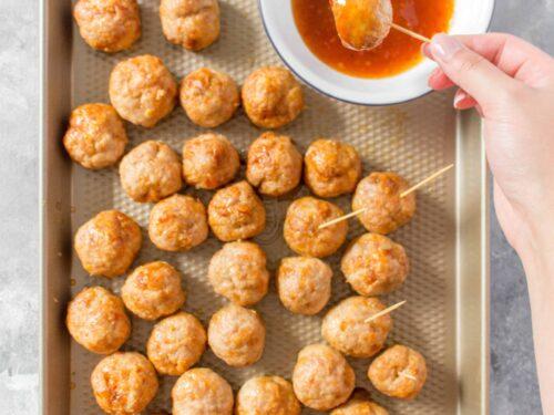 Easy Baked Chicken Meatballs Carmy Run Eat Travel