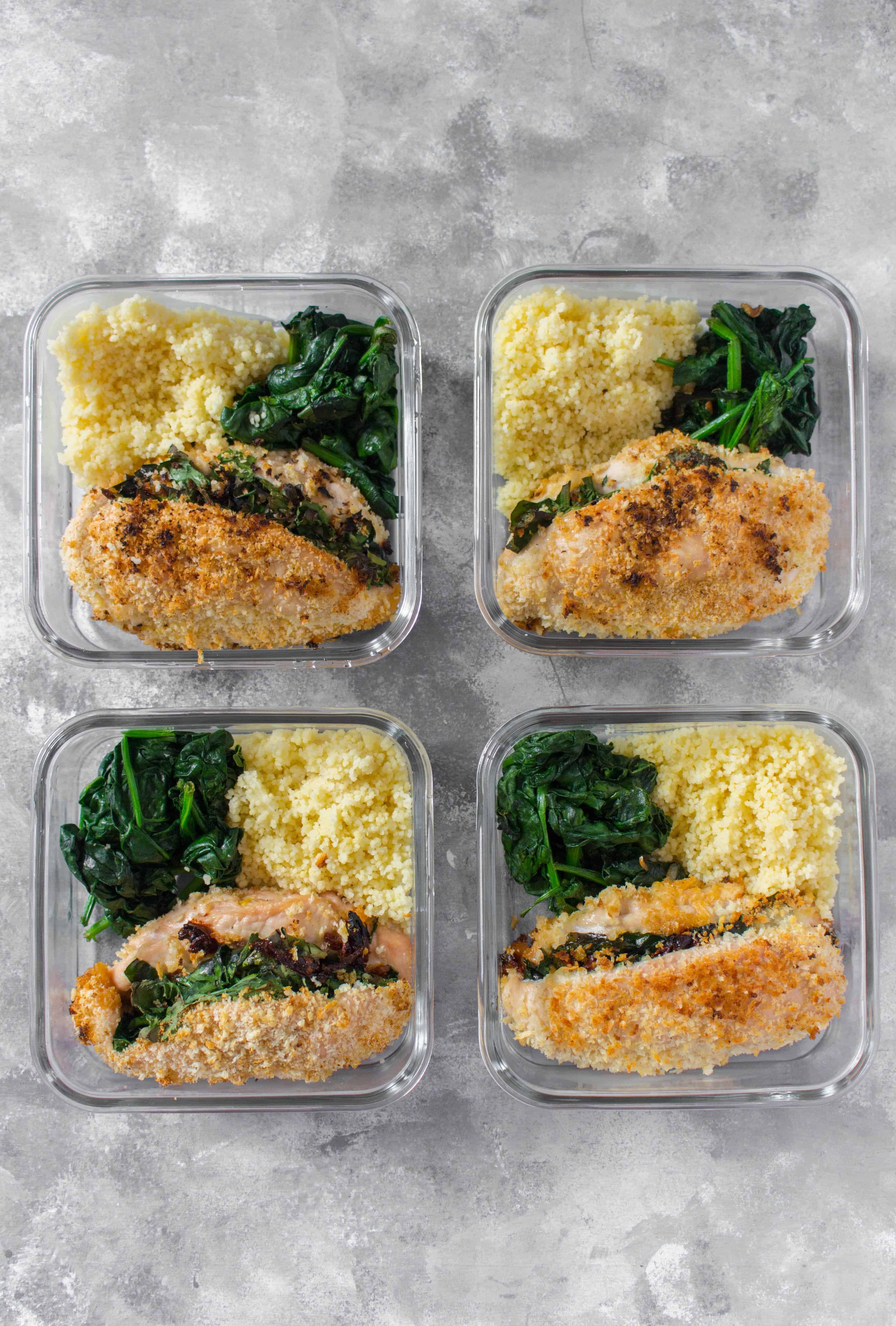 Looking to change up your regular boring chicken meal prep? This Spinach, Sun Dried Tomato, and Cheese Stuffed Chicken Meal Prep will have you asking for more as it is stuffed with flavour without having to spend time marinating!