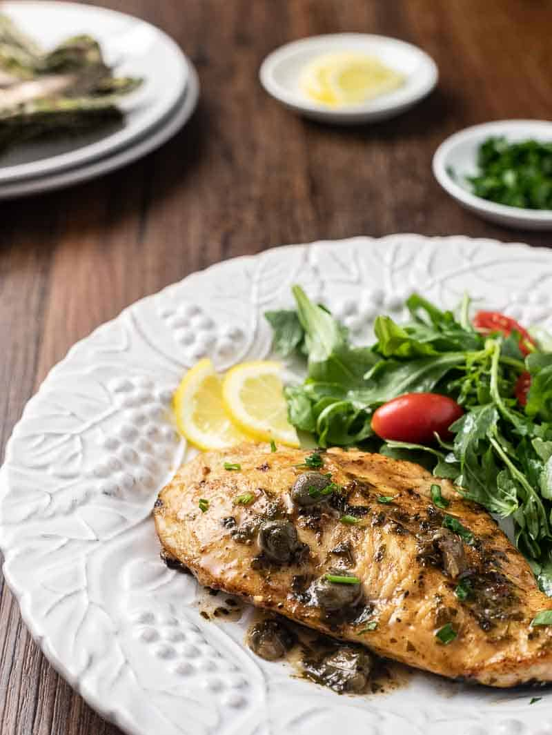 Lemon Chicken Piccata is a budget-friendly take on an Italian classic! Incredibly easy, low carb and diabetic friendly, this piccata recipe is one you'll want to make again and again!