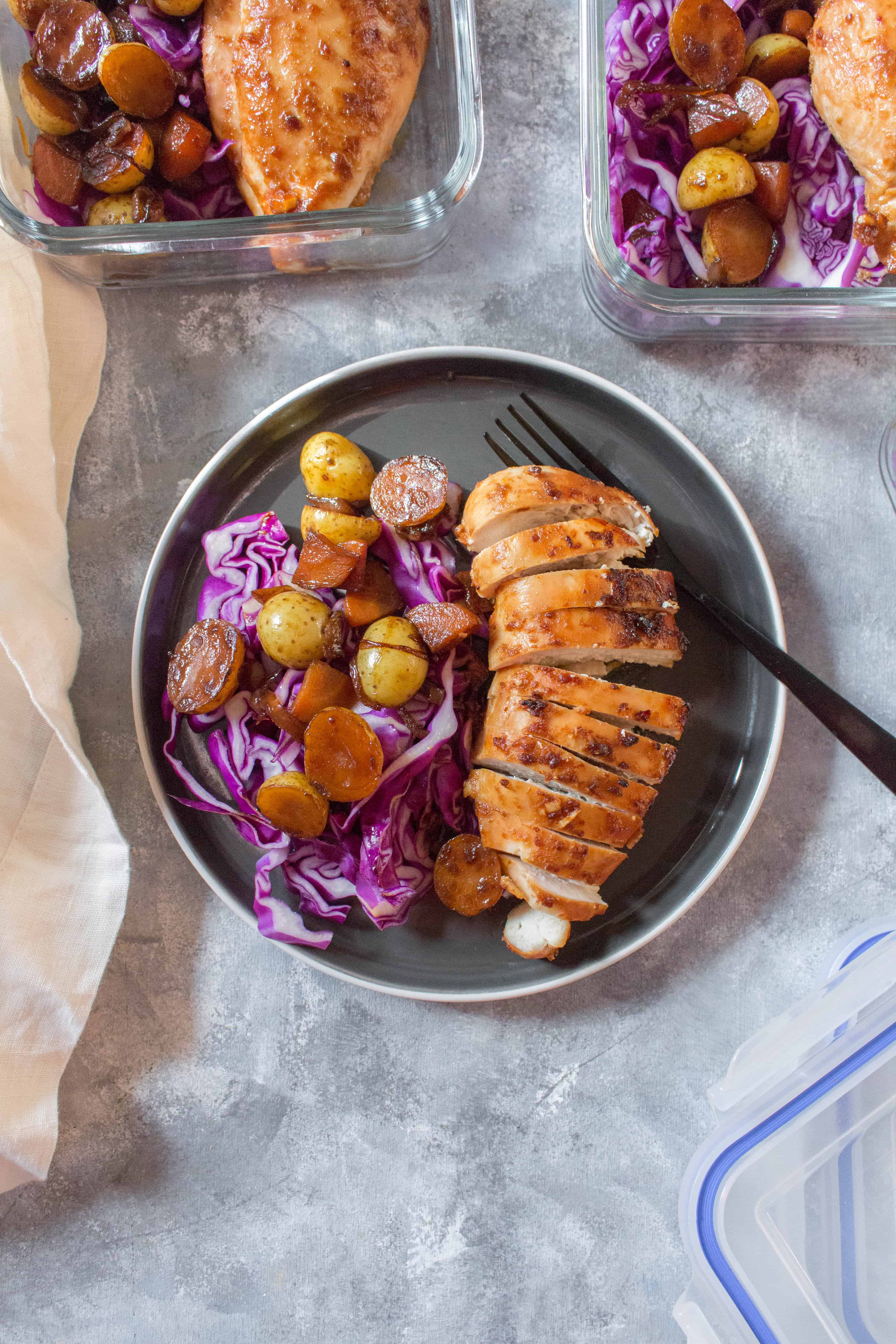 Looking for something a little different from your usual meat and potatoes meal prep? This Doenjang Chicken with Braised Potatoes makes for the perfect week's meal prep or as a Korean take-out alternative for dinner!
