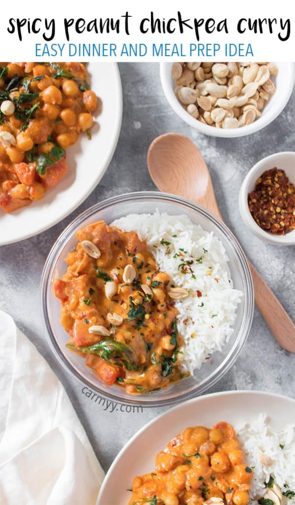 Looking for something to warm you inside and out made with a budget friendly superfood? Try this Spicy Peanut Chickpea Curry, it packs a punch!