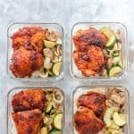 Looking for a lunch with a bit of a kick? This Spicy Korean Chicken Meal Prep is prefect for you! The chicken is oven baked so they're wonderfully juicy and tender on the inside while still being crispy on the outside!