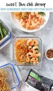 ThisShrimp with Homemade Sweet and Spicy Chili Sauce Meal Prep is loaded with flavour and will have you reaching for seconds!