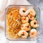 Shrimp with Homemade Sweet and Spicy Chili Sauce Meal Prep