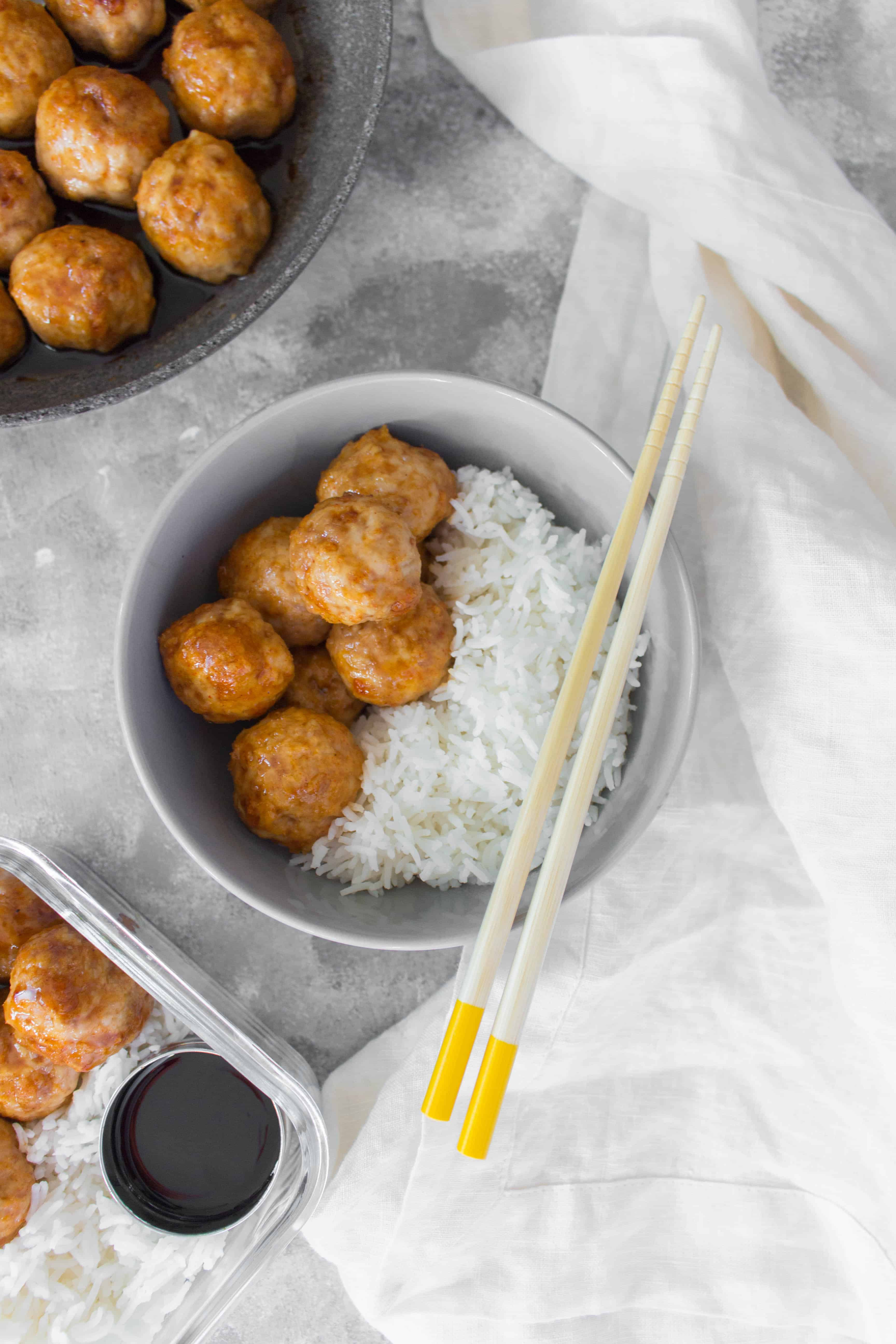 These Yakitori Meatballs are layered with sweet and savoury flavours. Make these for your meal prep this week or as a delicious weeknight dinner.