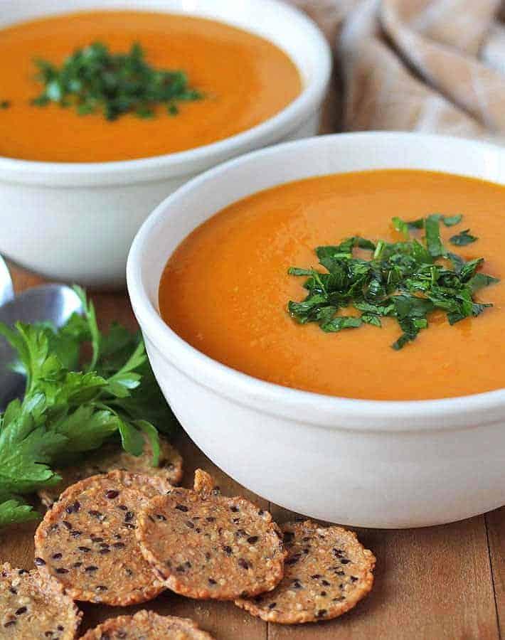 https://delightfuladventures.com/butternut-squash-sweet-potato-carrot-soup/