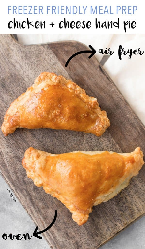 Looking for a savoury hand pie to start off the day? Try these Freezer Friendly Chicken and Cheese Hand Pies! Both air fryer and oven instructions are included.