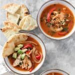 This Salsa Chicken Soup is the perfect soup for a cold day. Great as either a meal prep for lunch or an easy weeknight dinner, this Salsa Chicken Soup is also freezer friendly!