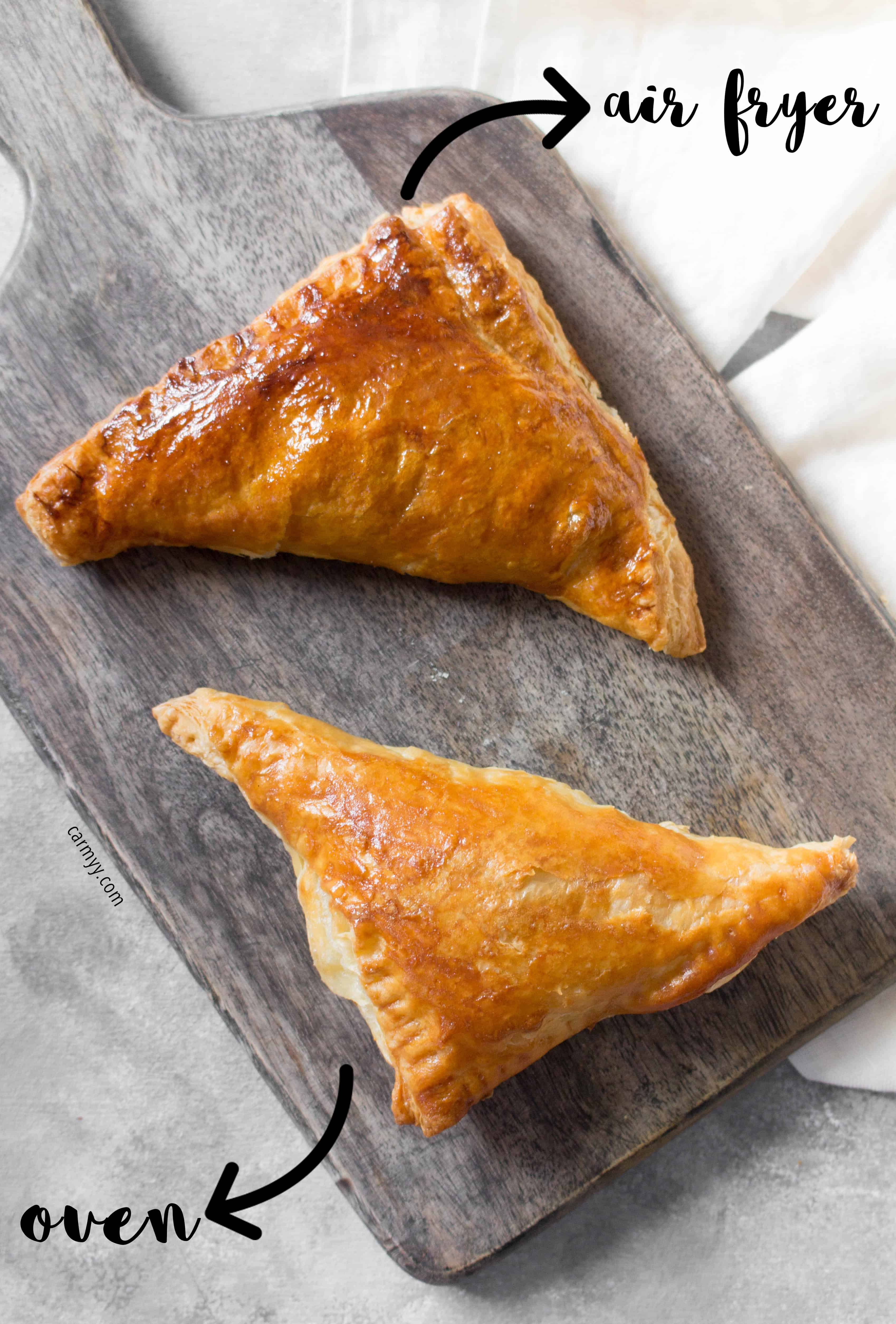 Air Fryer Spinach and Cheese Hand Pies or Oven Baked Spinach and Cheese Hand Pies