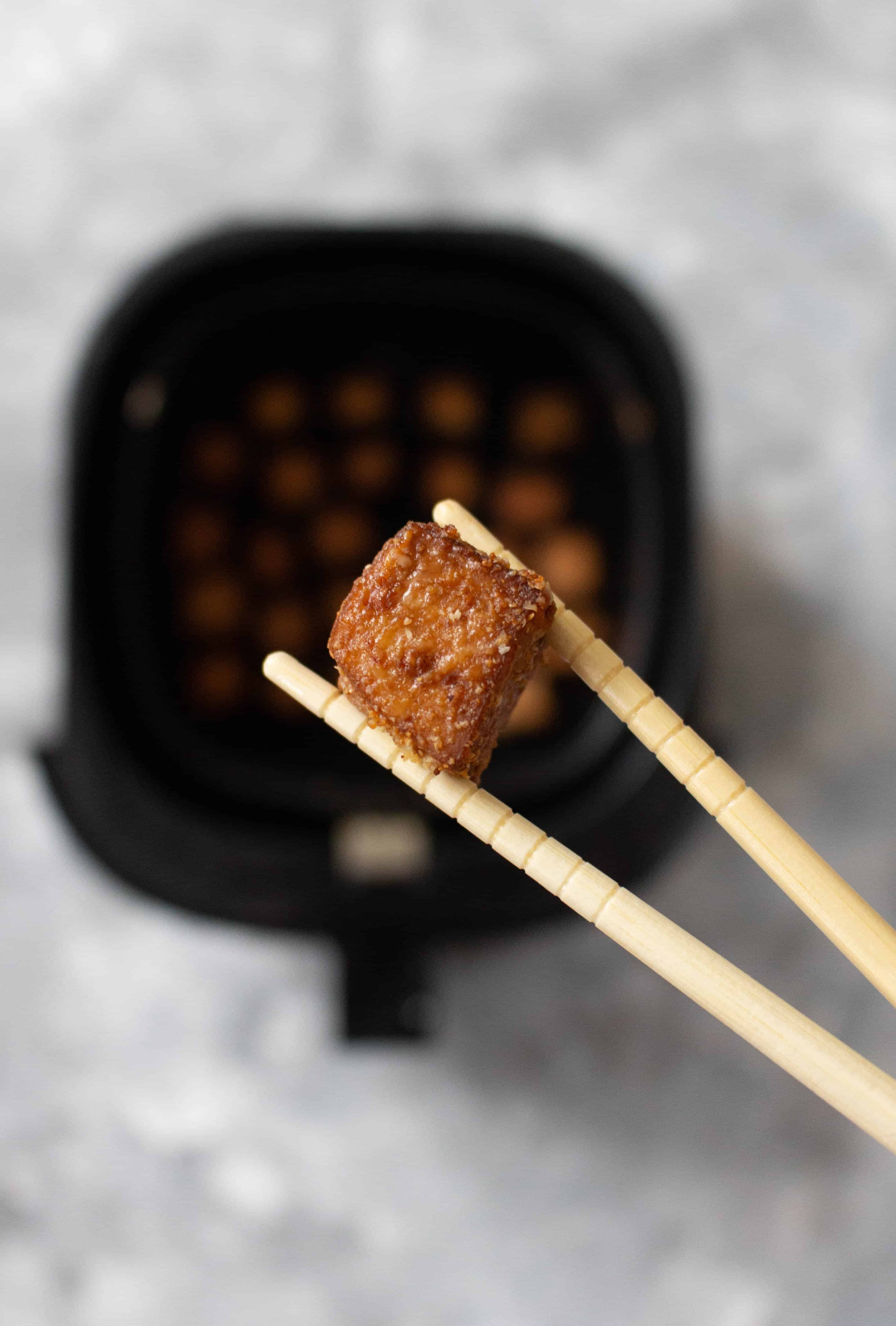 These Air Fryer Tofu Cubes are perfect as a snack on their own or as a part of a complete meal!