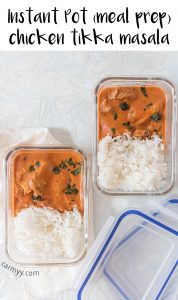 This dump and go Instant Pot Chicken Tikka Masala will knock your socks off! This Chicken Tikka Masala is so creamy and delicious, you're going to want to drink up every last drop of sauce.