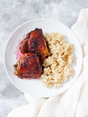 Juicy, sweet, and bursting with flavour, thisPomegranate Glazed Chicken Thighs makes for a perfect dinner or as a meal prep.