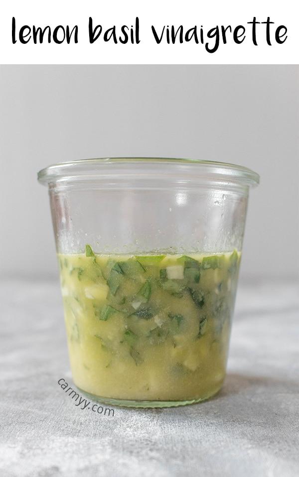 Looking for a fresh tangy vinaigrette for your salads? Try this delicious Lemon Basil Vinaigrette!