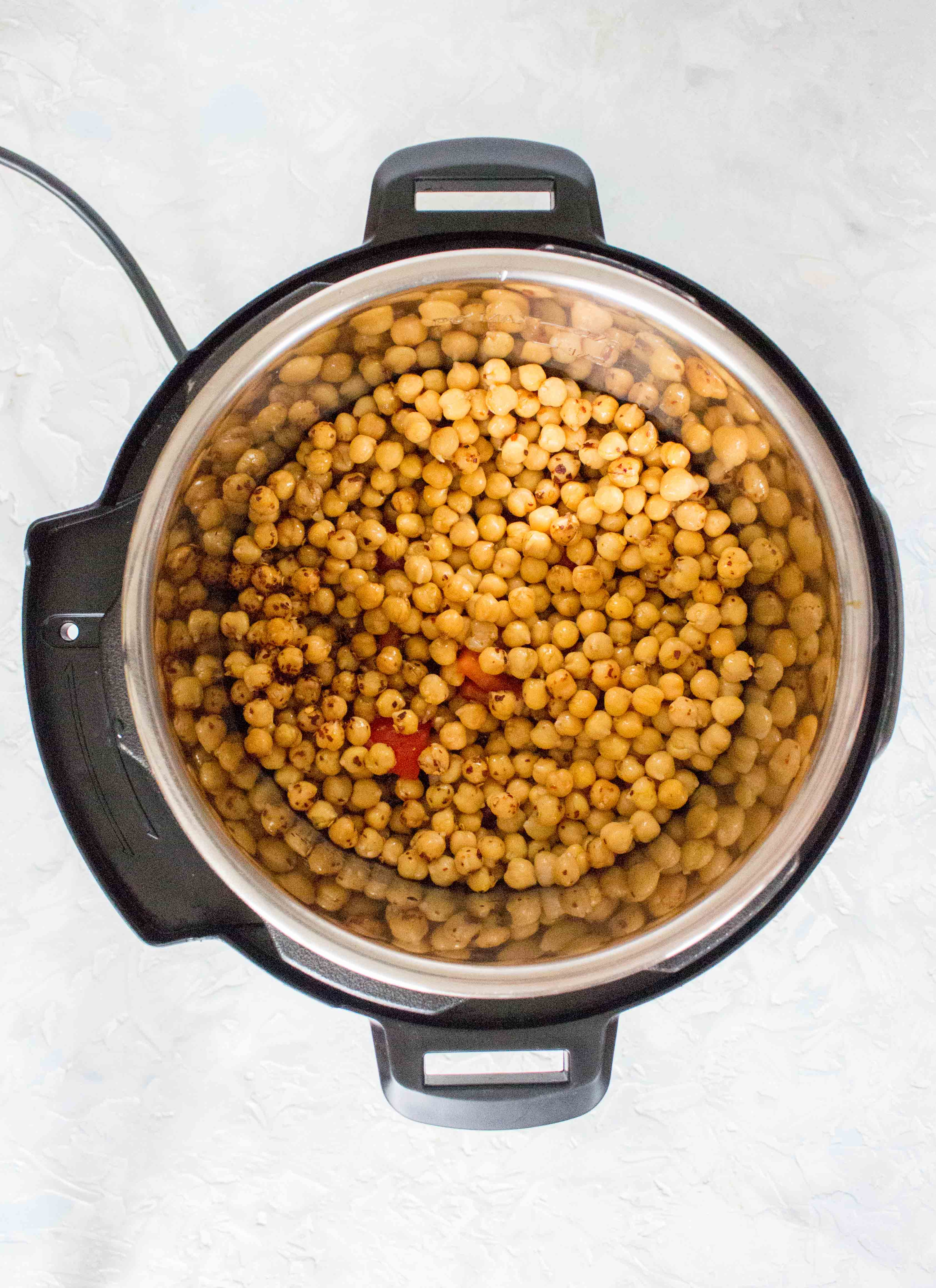 kung pao chickepeas inside instant pot liner