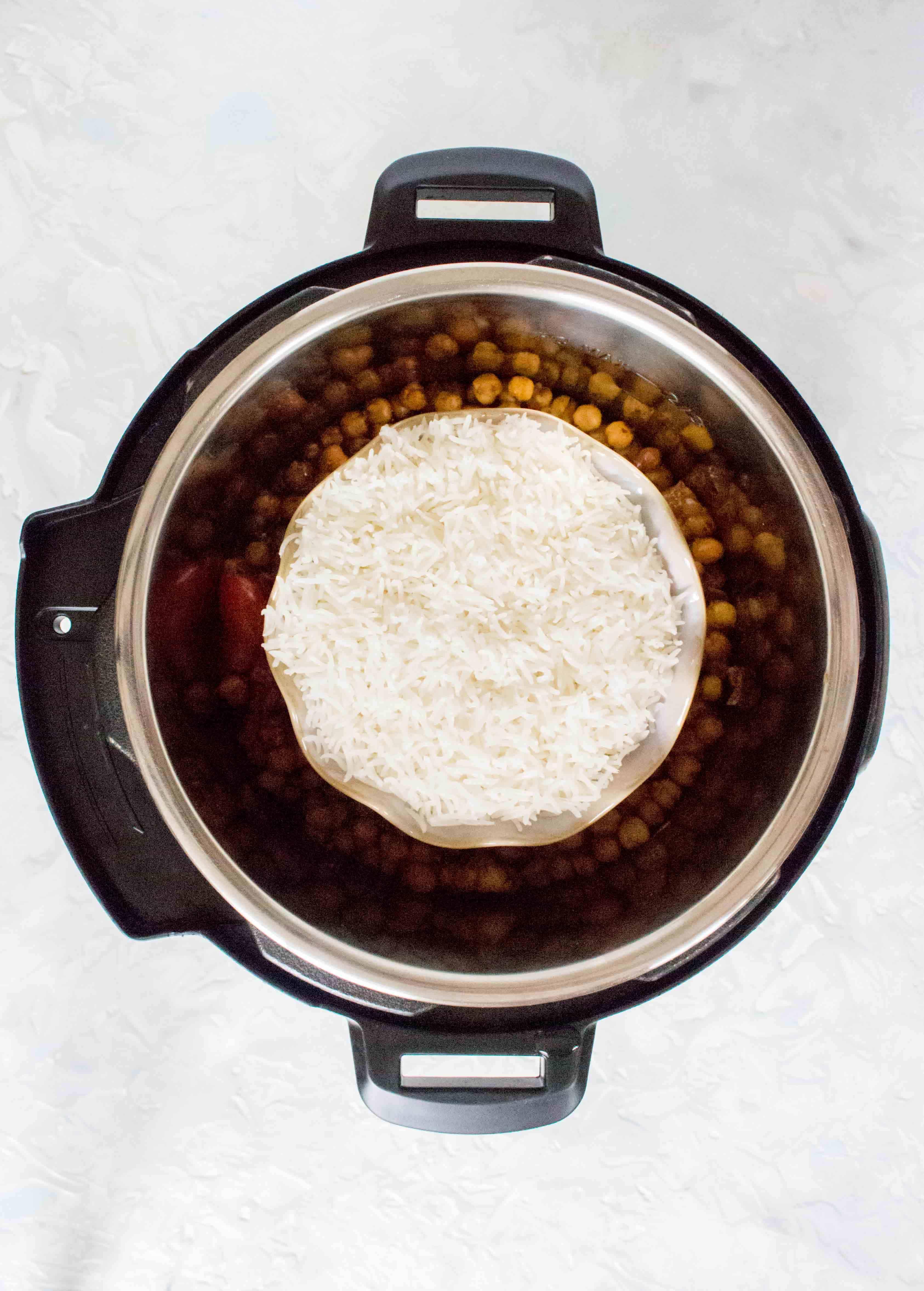 pot-on-pot instant pot cooking