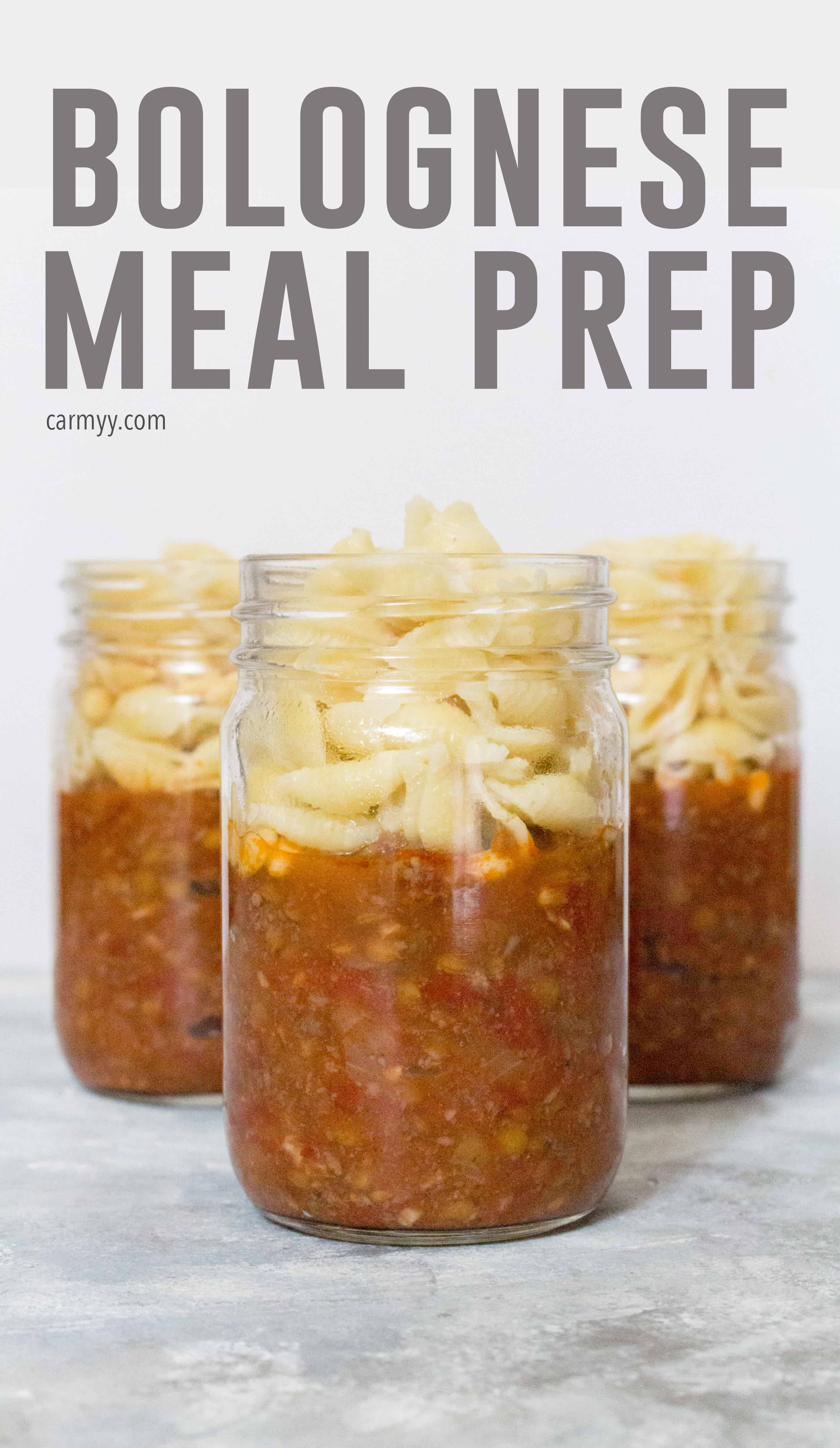 Grab a jar of this Bolognese Meal Prep on your way out the door! Packed with healthy goodness, this meal prep will hit that comfort food craving without being too heavy!