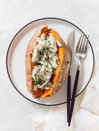 How To Make The Easiest Chicken Stuffed Sweet Potatoes