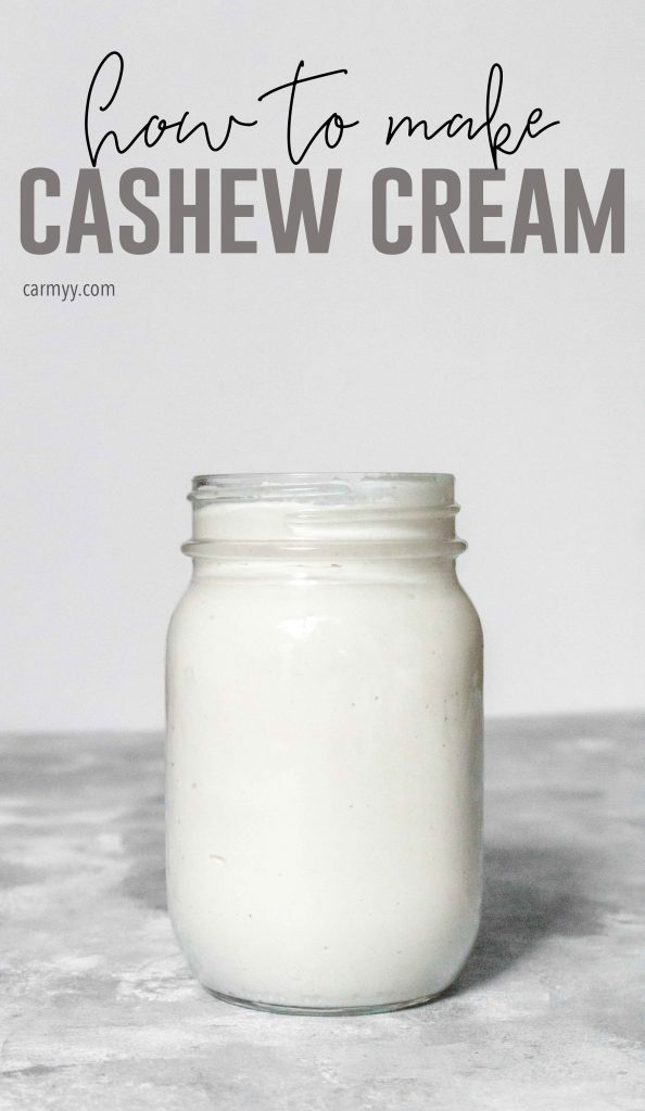 This (dairy-free, vegan) cashew cream is super versatile. It's perfect for dips, in cream-based sauces, or as a replacement for wherever you need to use heavy cream!