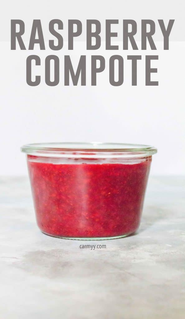 This Easy Raspberry Compote is made with only 4 ingredients and 15 minutes. Perfect with your breakfast or on your dessert!