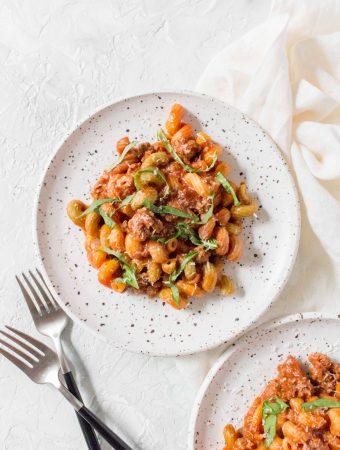 instant pot beefy pasta