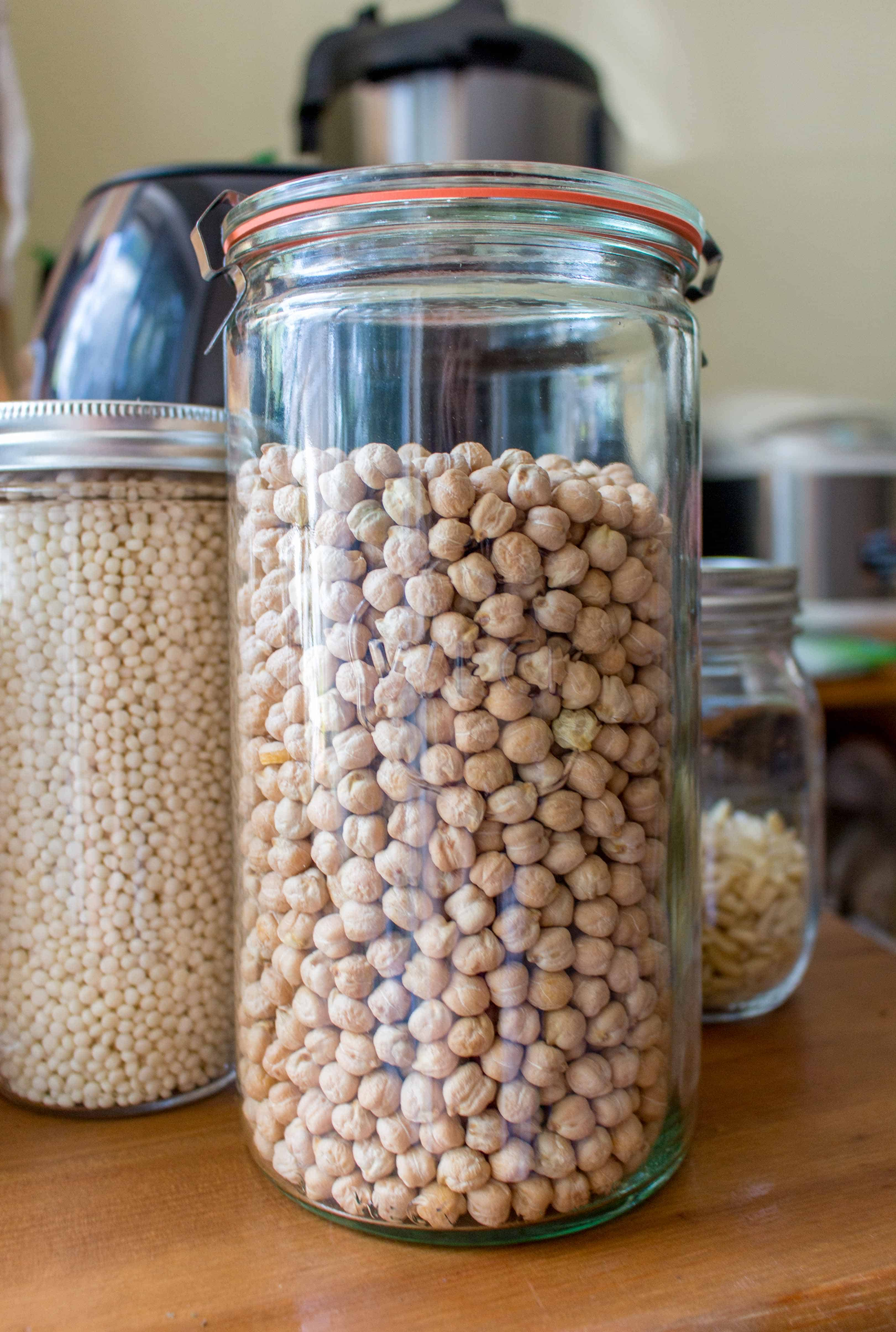 Here's how to easily make chickpeas in an Instant Pot - a simple and quick method for cooking dried garbanzo beans in a pressure cooker!