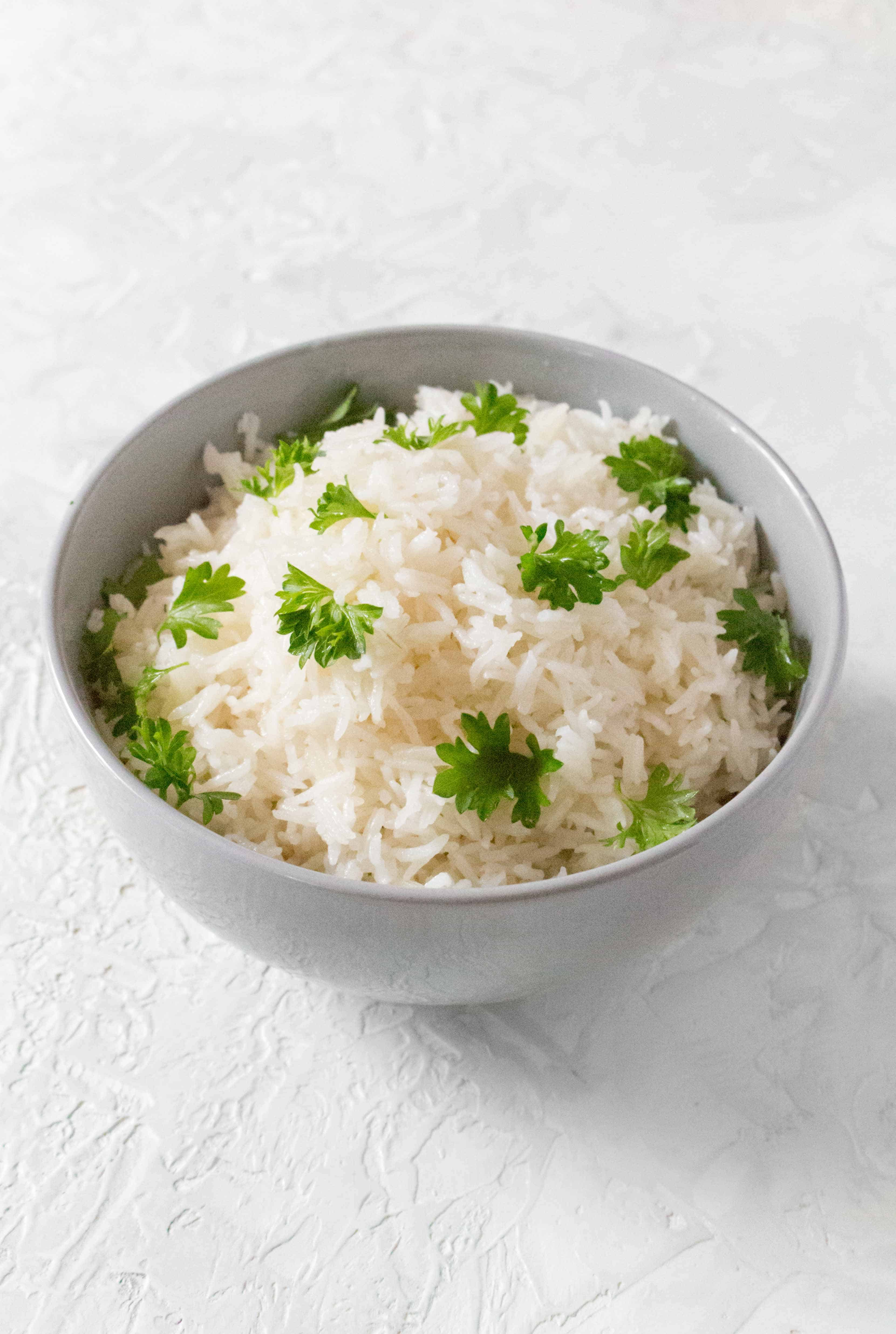 This easy Instant Pot Coconut Rice is the perfect side dish! Make it in under 15 minutes with only a couple simple ingredients!