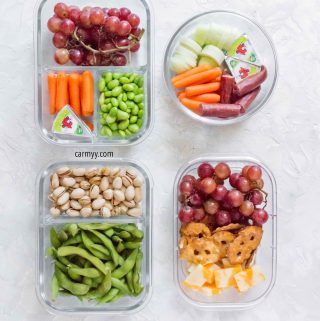 Looking for some Easy Healthy Meal Prep Snack Ideas? Here are 4 meal prep snack recipes for work, school, or home! Healthy snacks for both adults and kids.
