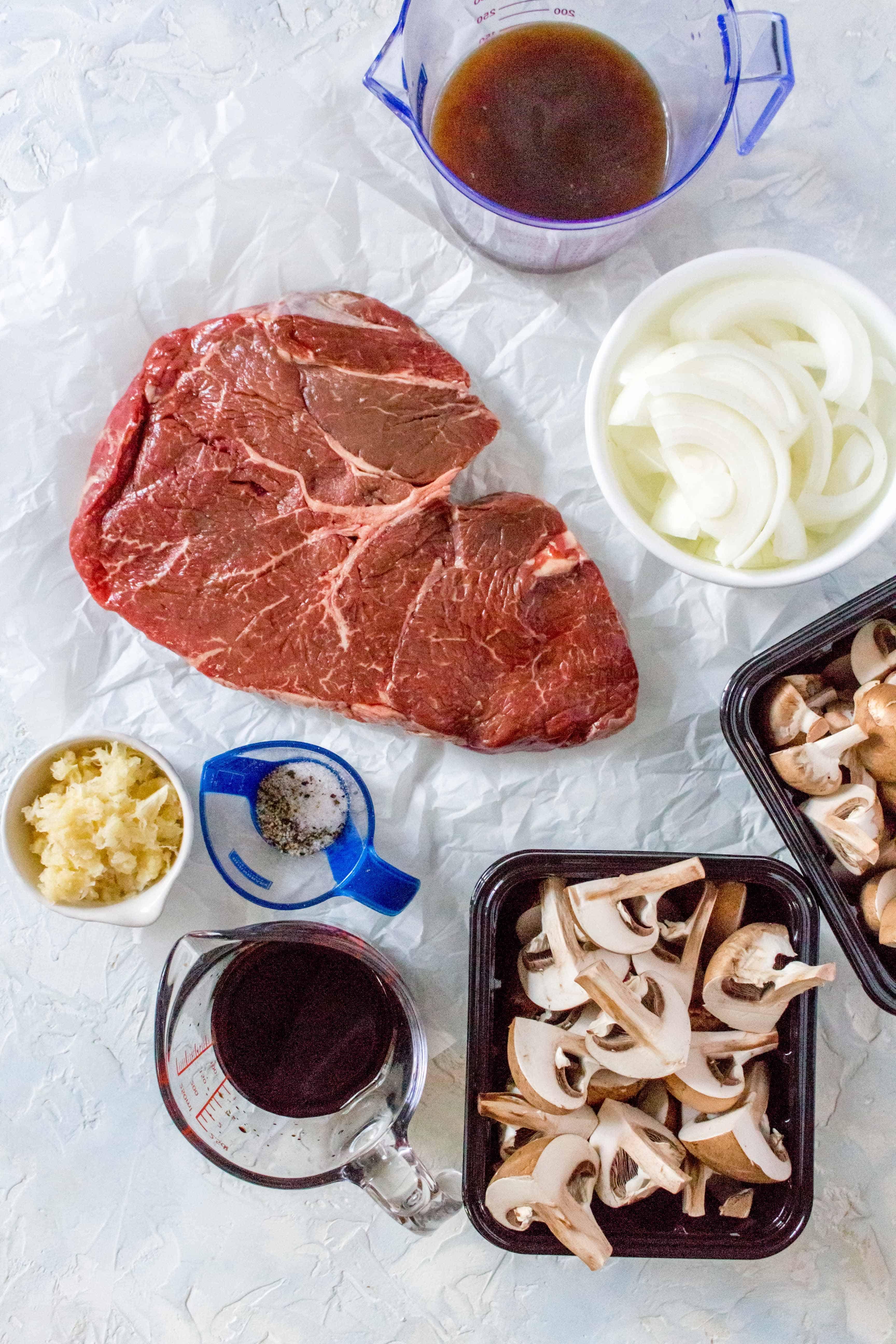 Instant Pot Hibachi Steak and Mushrooms