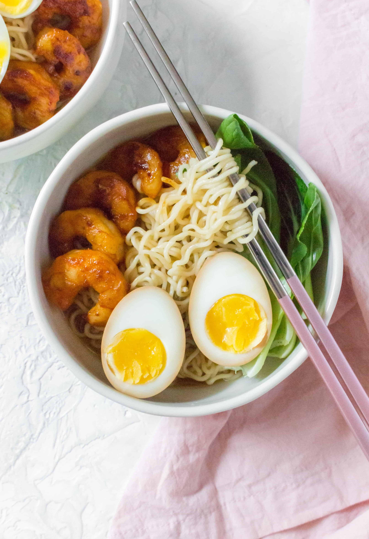 soy sauce egg in ramen