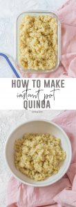 A staple in my meal prep, here's how I make the perfect Instant Pot Quinoa! Fluffy, quick, and fail-proof!