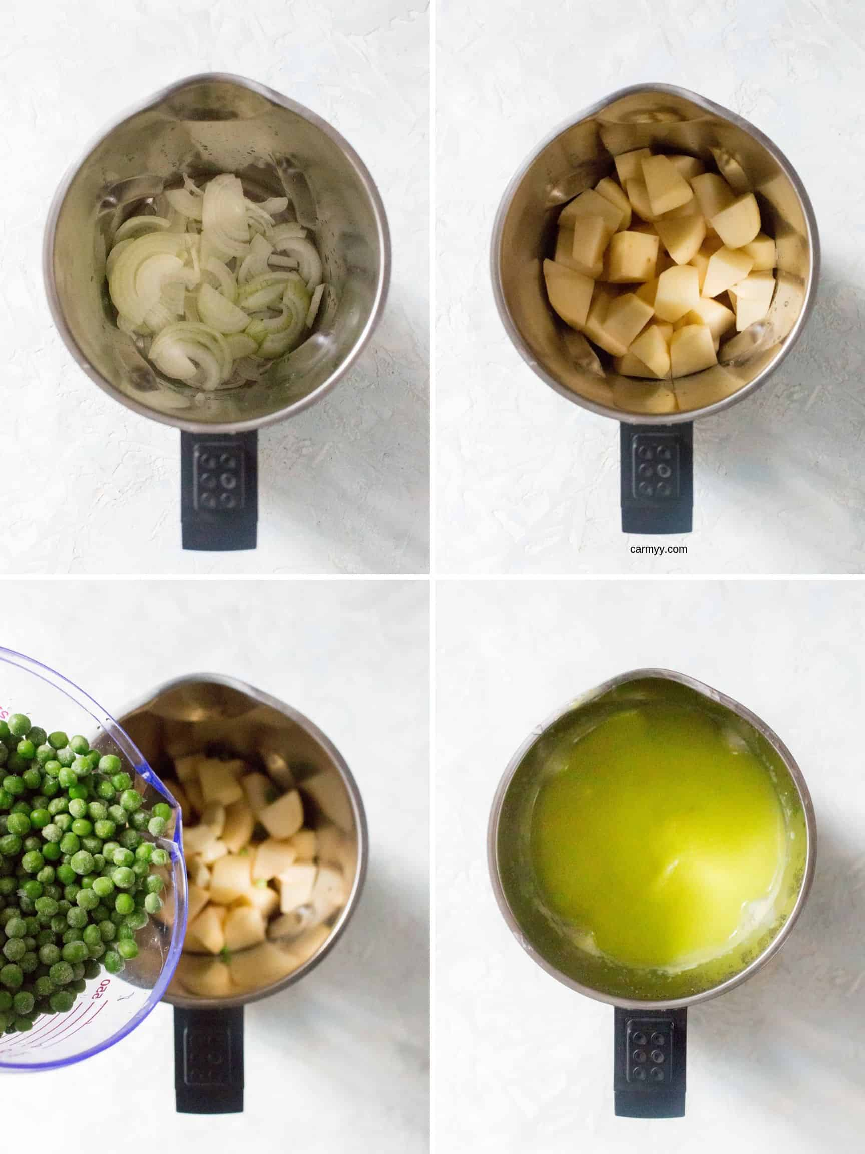 ingredients inside the philips soupmaker.