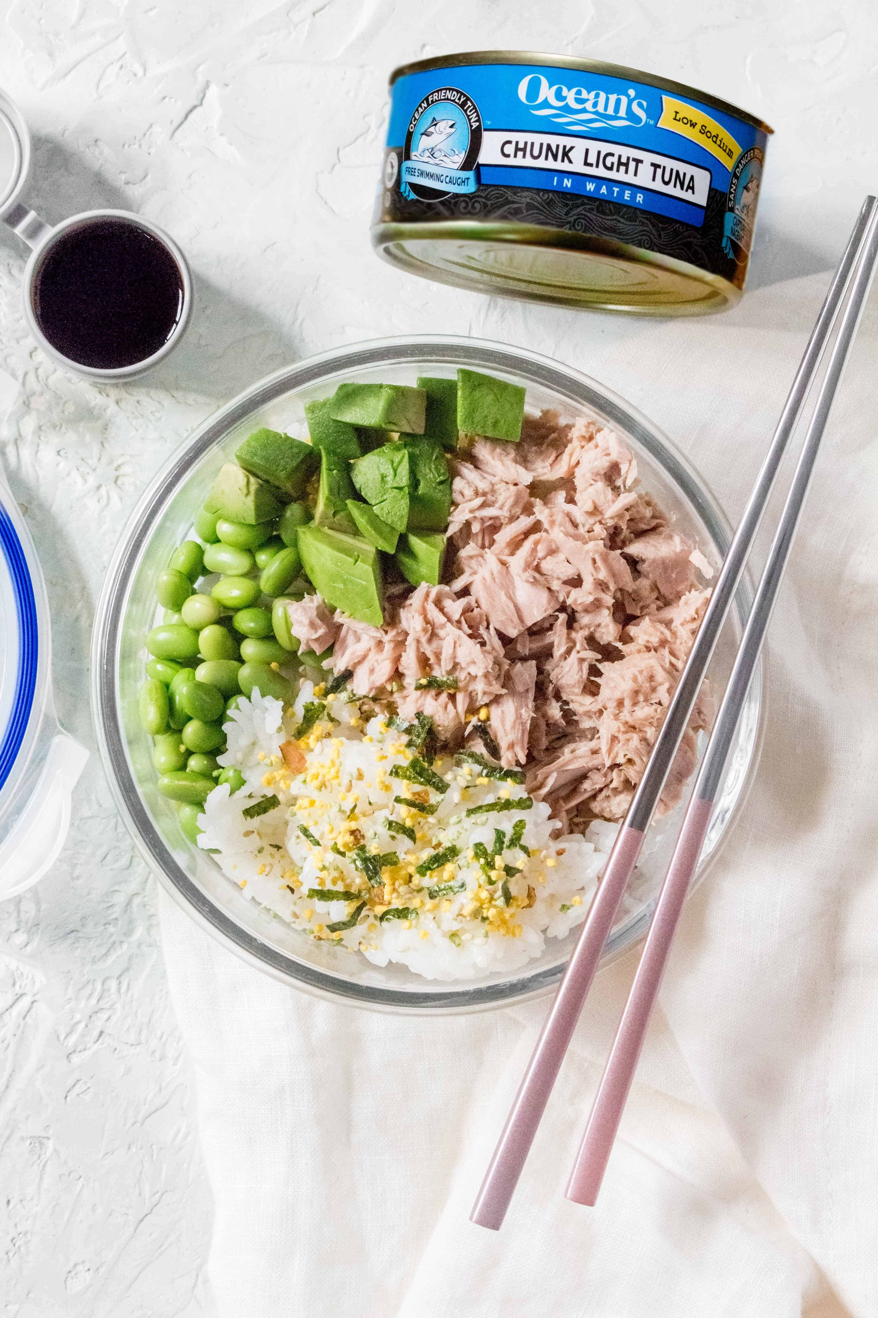 tuna sushi bowl meal prep