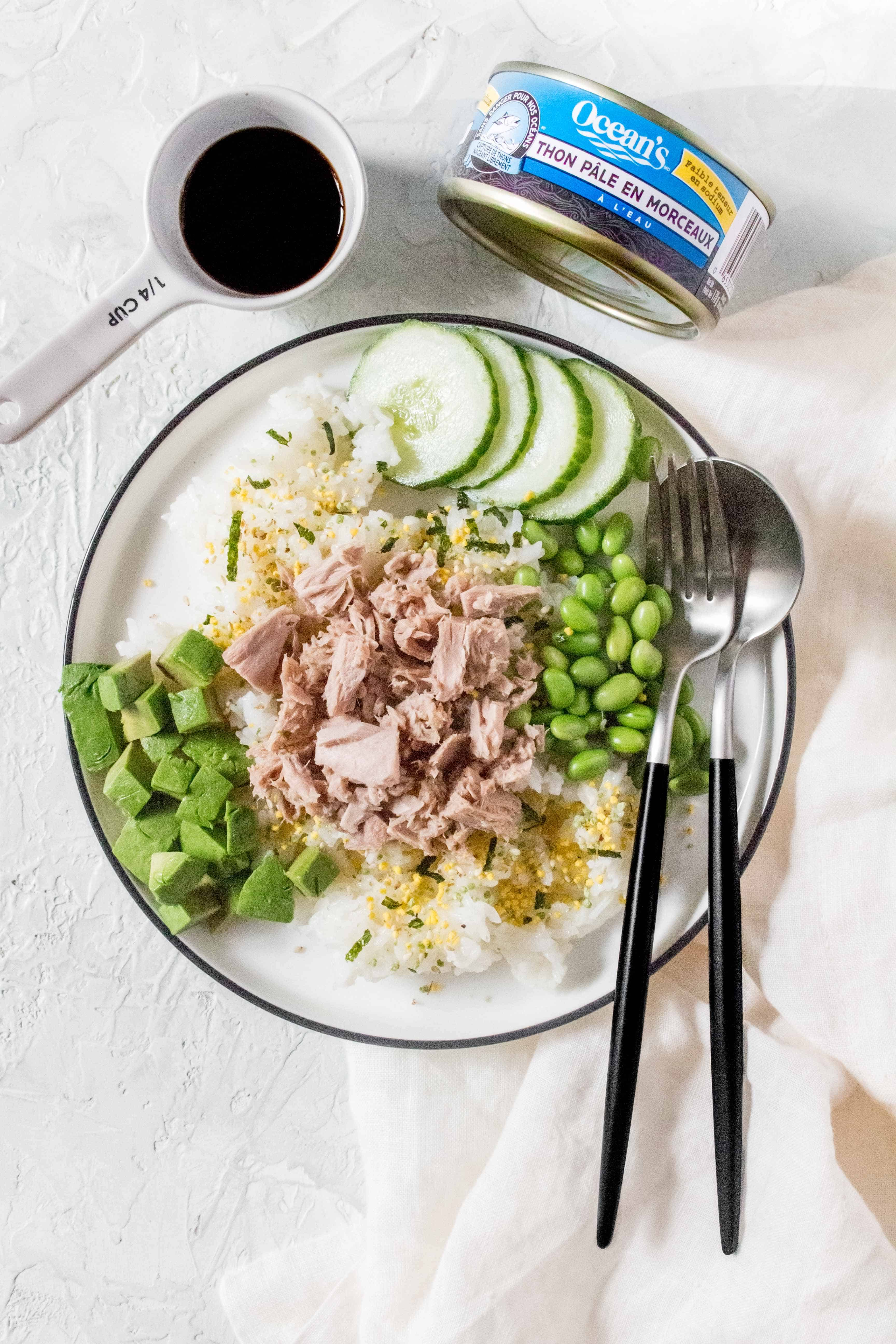 If you're looking for a healthy, easy, and budget friendly sushi inspired meal, I've got you covered! This healthy homemade Tuna Sushi Bowl is made with canned tuna and the most cooking you'll do is the rice!