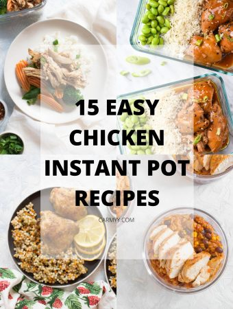 Got a new Instant Pot? Tired of the same Instant Pot chicken recipes? Need some inspiration for dinner tonight? Here are 15 easy and popular Instant Pot Chicken recipes to try!