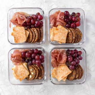 Who says lunchables are for kids? Here's a fancier adult Meal Prep Lunchables that you can make at home, aka how to meal prep a mini cheese board!