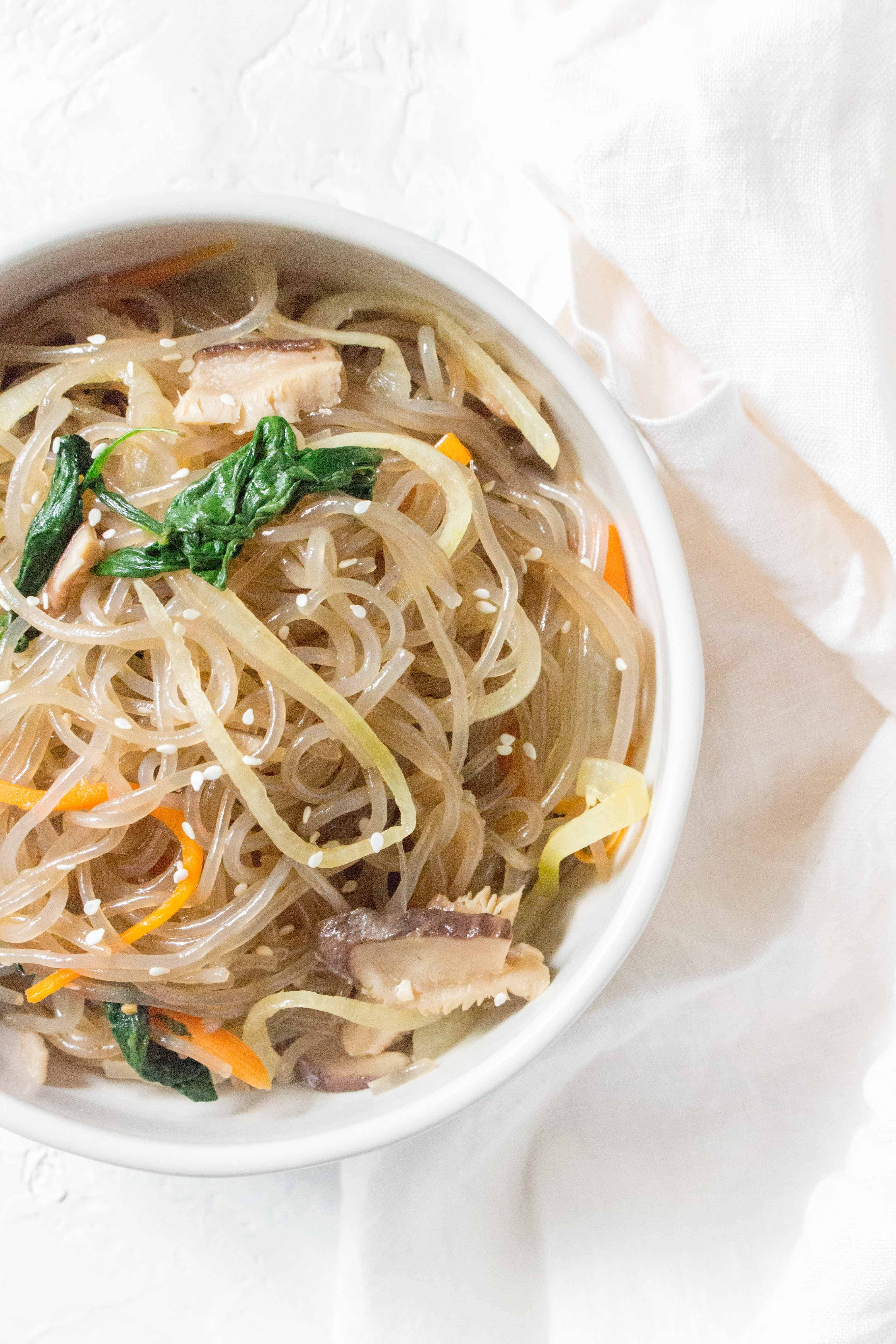 Ever wondered how to make Japchae at home? Here's a super quick and easy method! Japchae is the perfect dish for a potluck or as a meal prep!