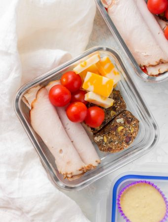This Deconstructed Turkey Sandwich Bento Box is perfect as either a midday snack or as a meal!