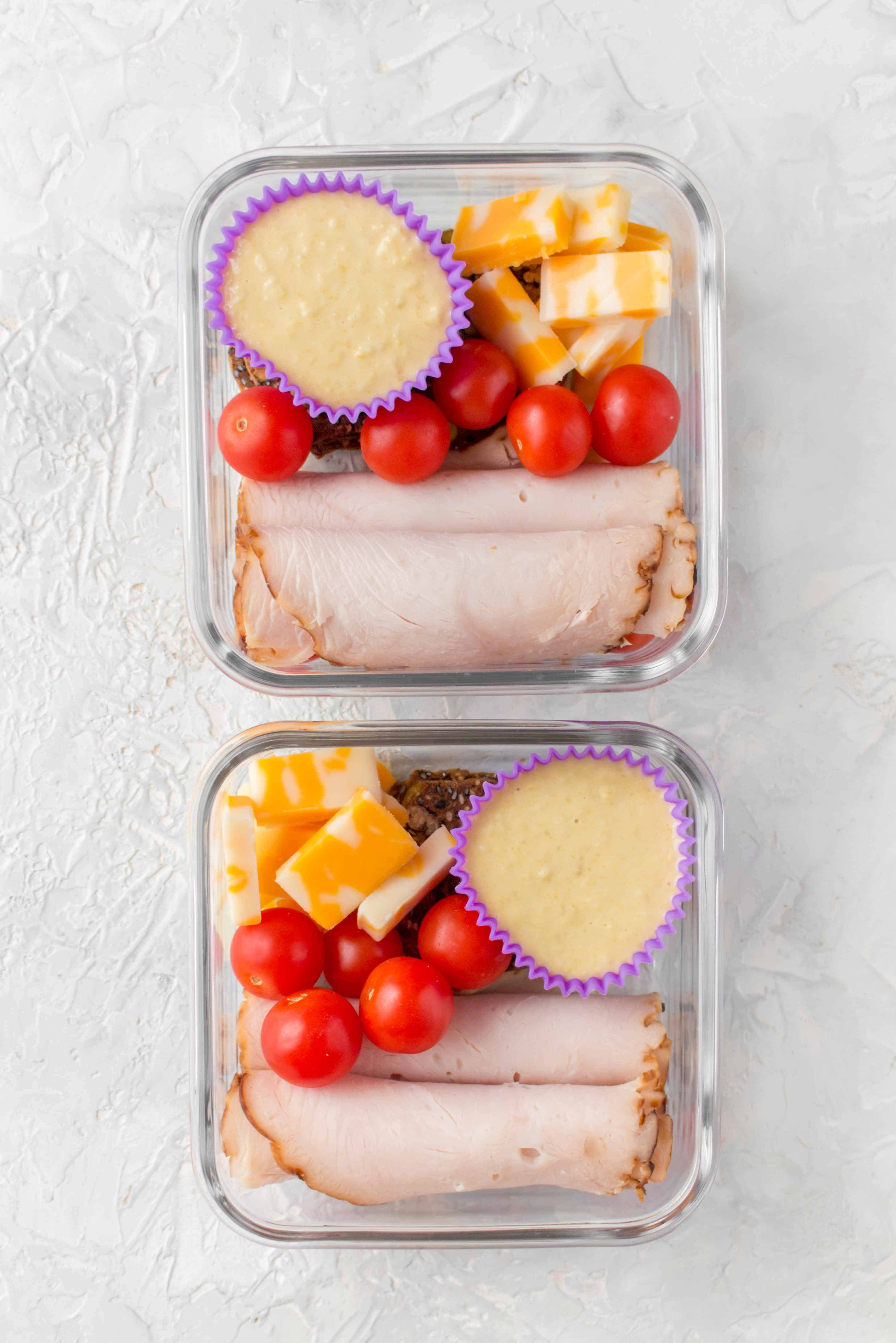 Deconstructed Turkey Sandwich Meal Prep