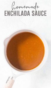 This Homemade Enchilada Sauce packed with flavour and is so simple to make. It's also freezer friendly so you can make a double batch and freezer half for later!