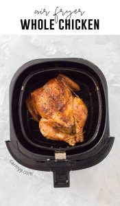 Do you have an air fryer and want juicy and tender roasted chicken? With completely moist and crispy skin, do it in a healthy chicken air mill in less than 30 minutes.