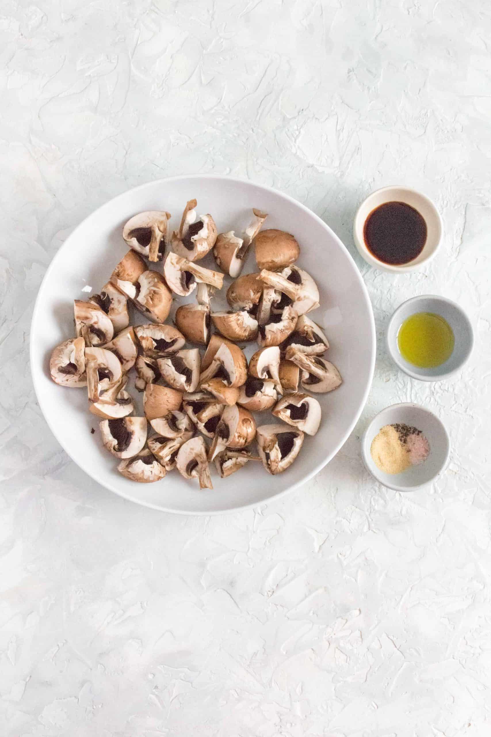 ingredients to make mushrooms in air fryer