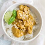 Creamy, aromatic, and easy to make, this Instant Pot Chicken Peanut Satay is going to become a staple in your meal plans!