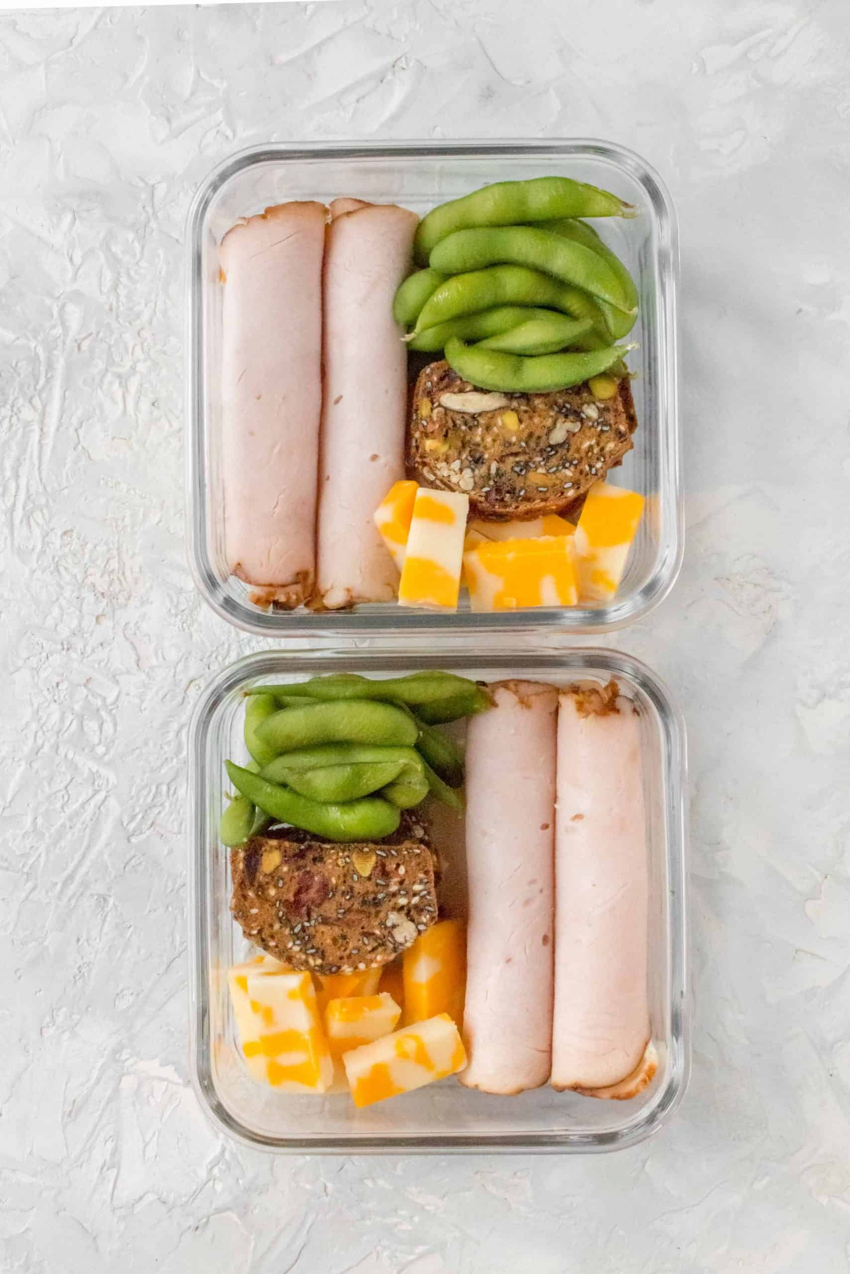 Looking for an easy snack meal prep, this Turkey Snack Box is for you!