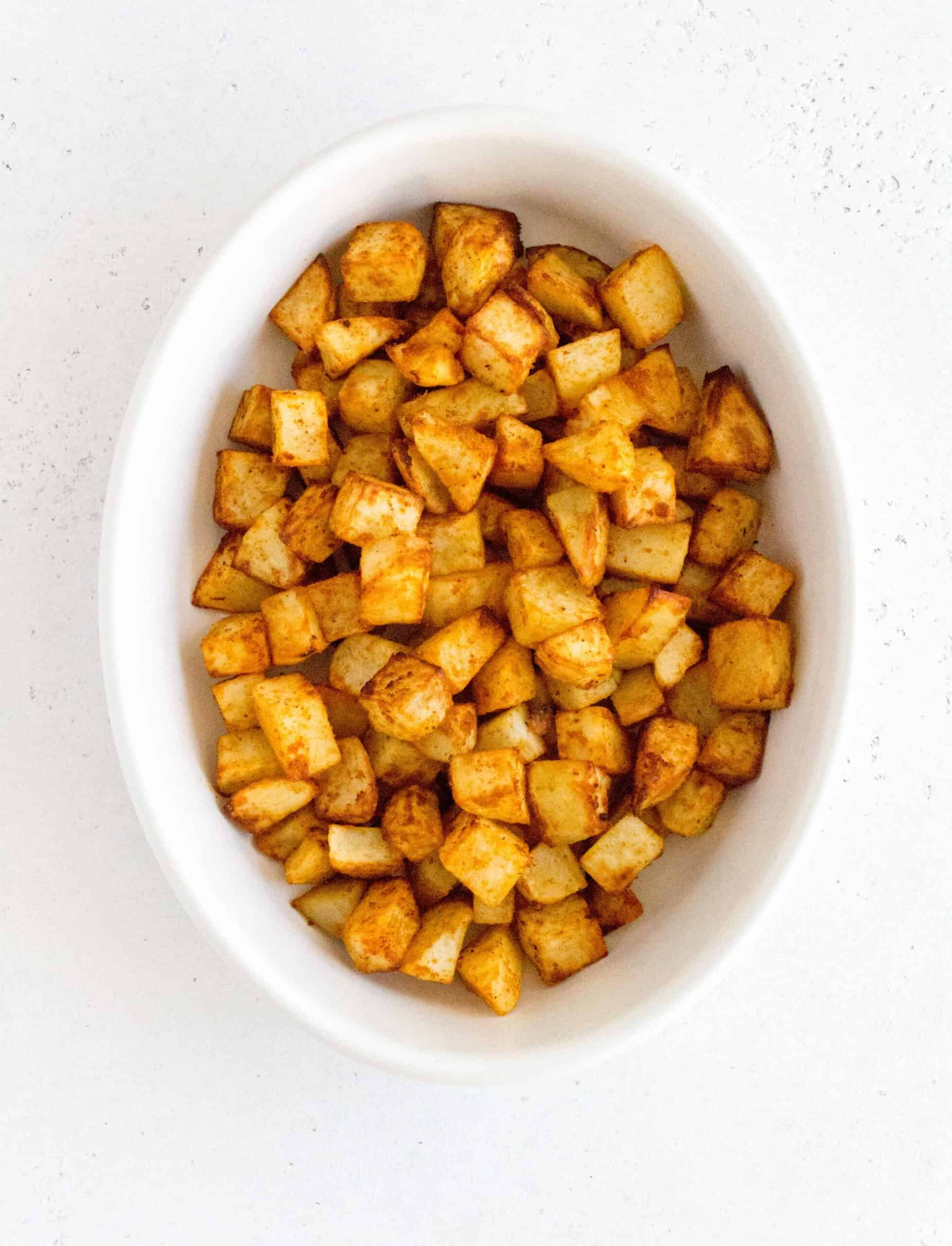 In 30 minutes, you can have this homemade version this diner classic on your table! Make this crispy Air Fryer Breakfast Potatoes recipe today!