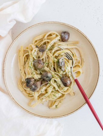 This savoury Butter Garlic Miso Noodles with Mushrooms only takes a couple minutes to put together and is so easy to make. Perfect as a last minute meal.