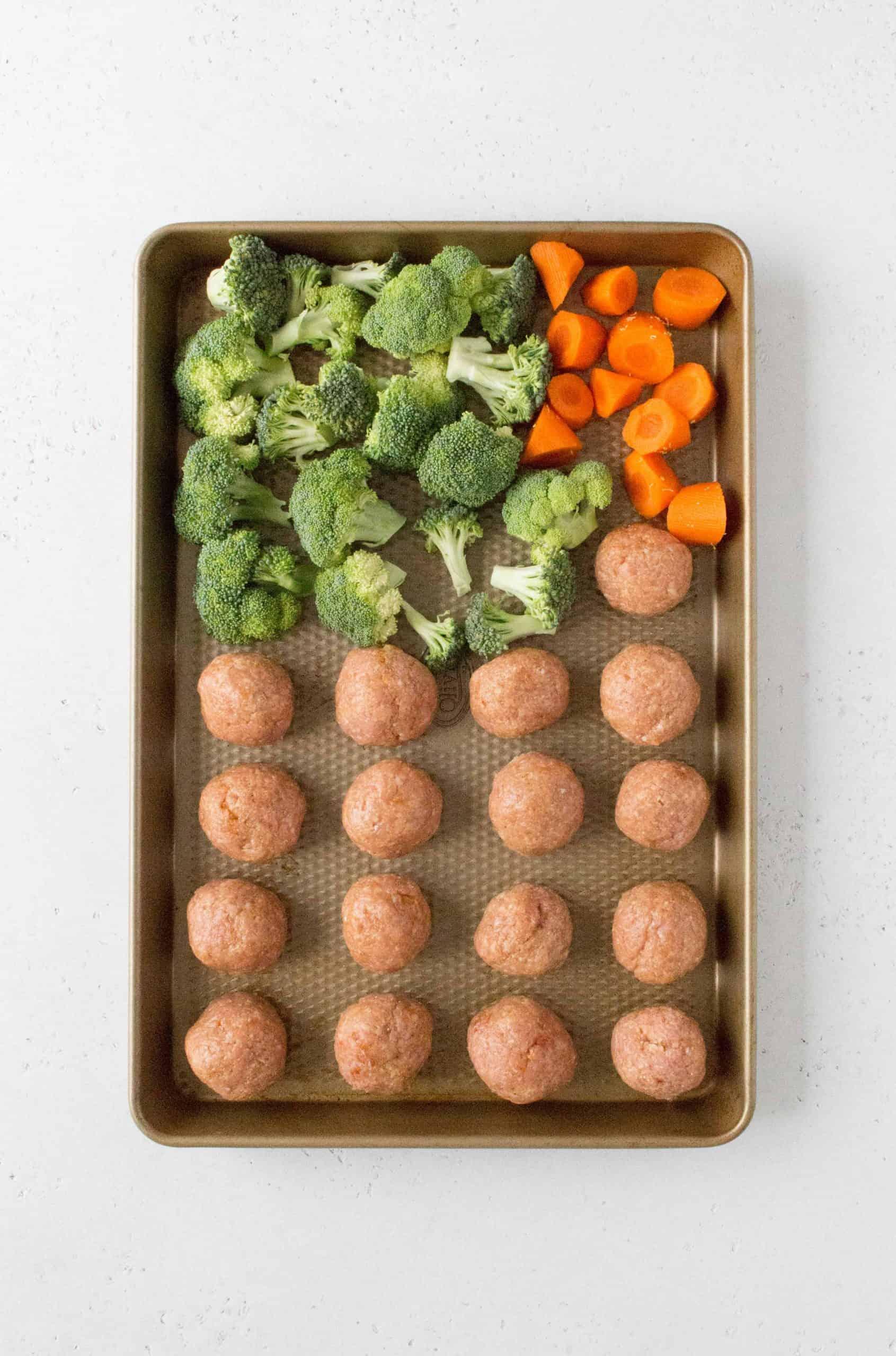 raw teriyaki chicken meatballs
