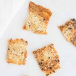 These thin and crispy Everything But The Bagel Sourdough Discard Crackers are the perfect solution to your sourdough discard!