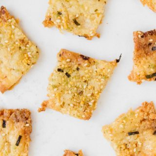 These thin and crispy Furikake Discard Crackers are the perfect solution to your sourdough discard!